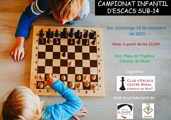 24è Campionat de Ràpides a la Plaça. 19 de septiembre Campeonato Infantil